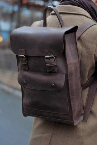 Как купить винтажный кожаный рюкзак мужской