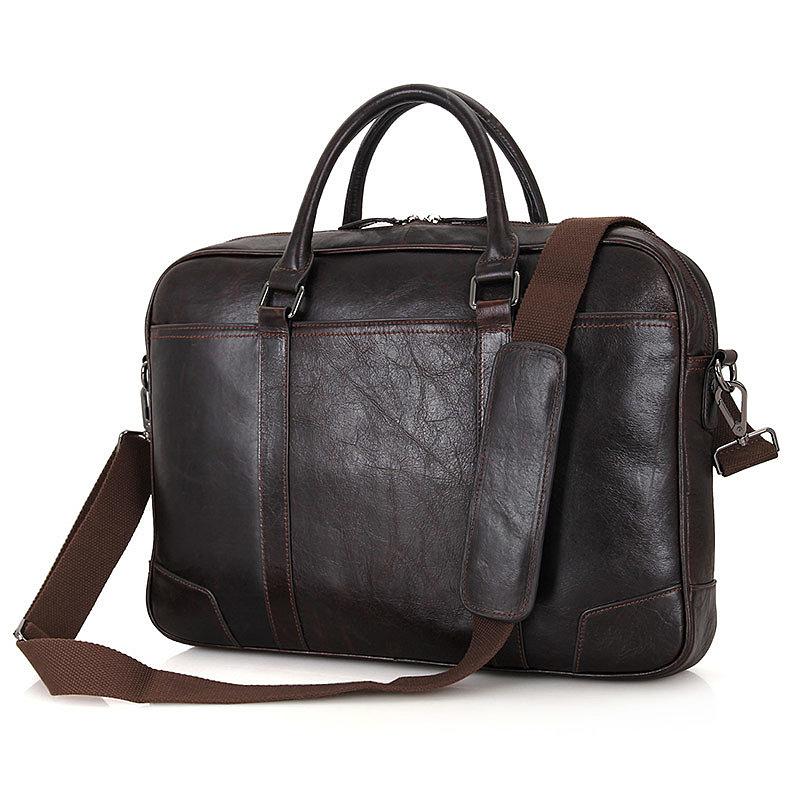 Кожаная сумка потфель 7349Q