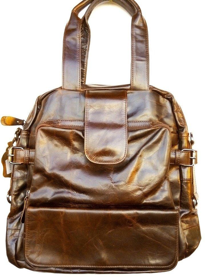 кожаная мужская сумка трансформер 7065