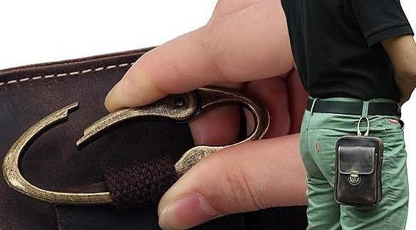 Кожаная сумка на пояс через плечо