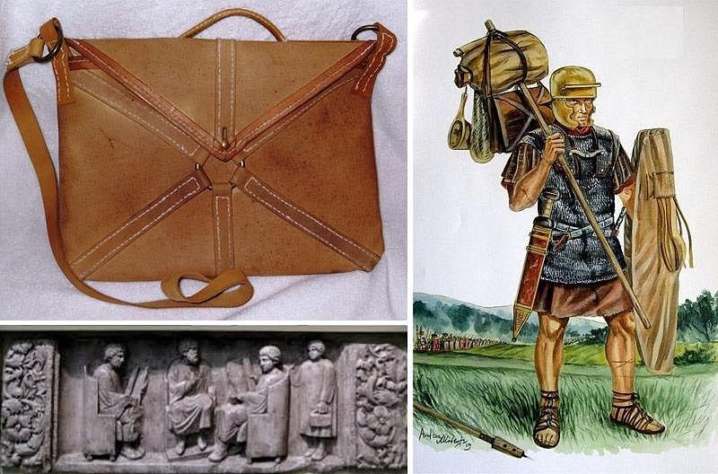 Локулус - кожаная сумка портфель из кожи древних римлян