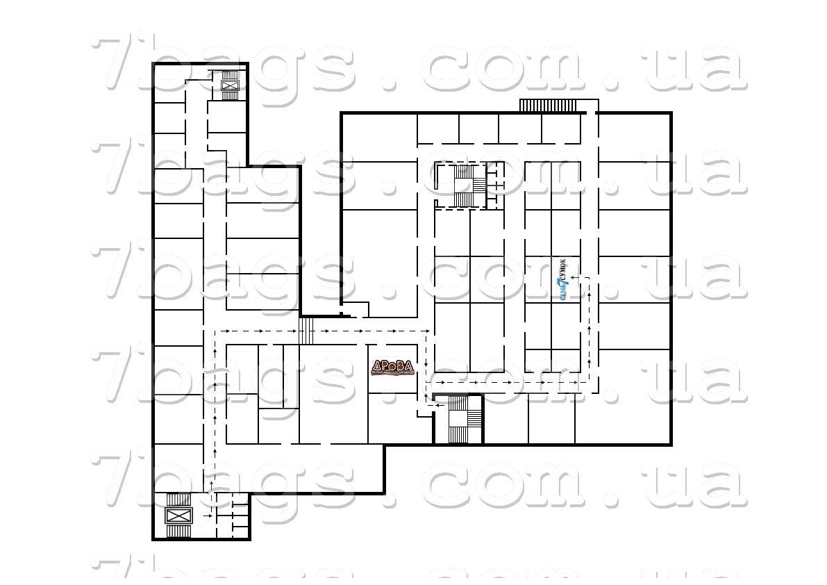 Схема магазина сверху