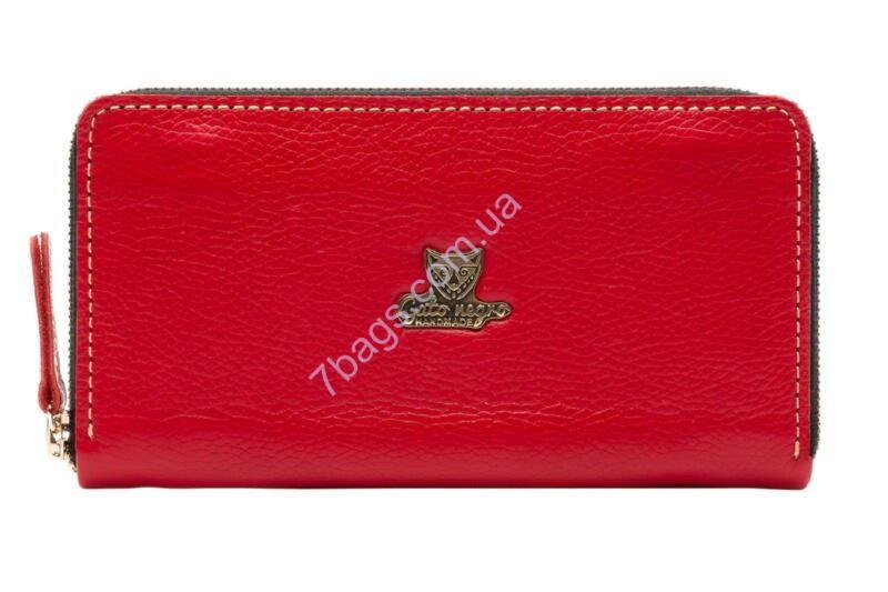 862a7f6427c0 Кошелек-клатч кожаный unisex Gato Negro GN285 в цвете Discovery Buffalo Red