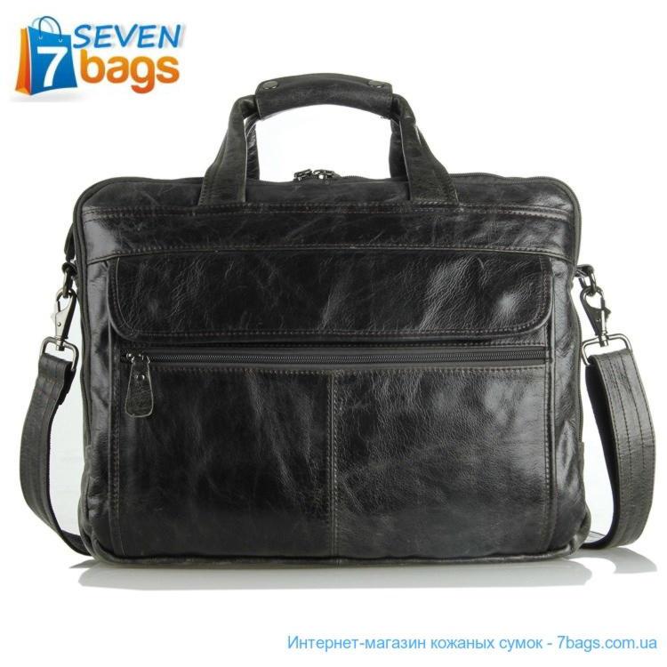 3b2050c4e331 Кожаная сумка JD7146J, брифкейс, дорожная сумка, серая ✓JD7146J по ...