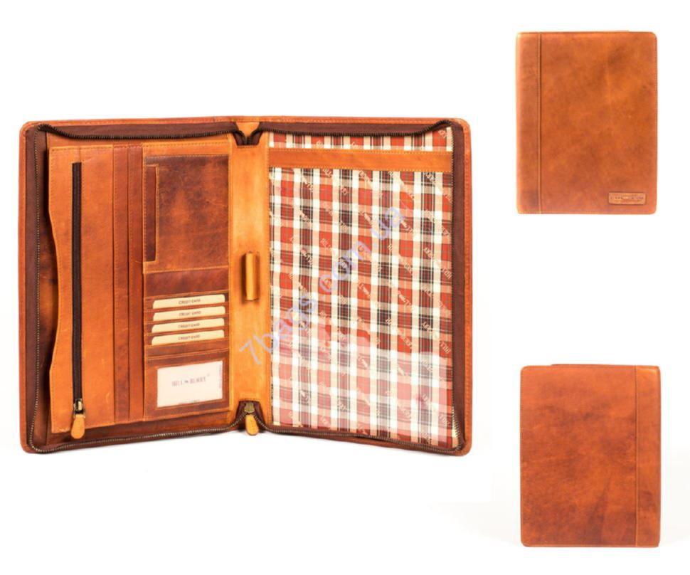d786efceb48c Фирменная кожаная папка, цвет рыжий, HILL BURRY ✓HB51173 по цене 2 ...