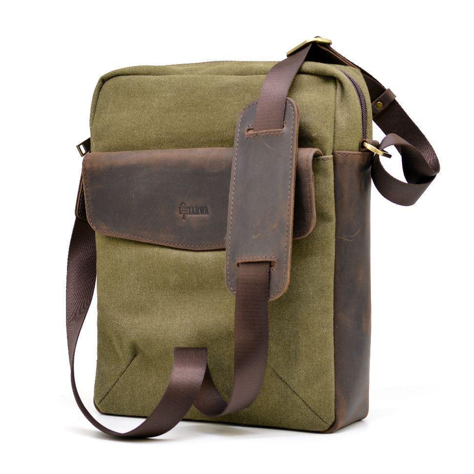 15cf25cbb7f8 Мужская сумка, микс парусина+кожа RH-1810-4lx бренда TARWA ✓RH-1810 ...