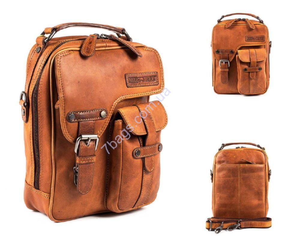 0e36d2ba39fe Мужская кожаная барсетка, сумка через плечо HILL BURRY 3060 ✓HB3060 ...