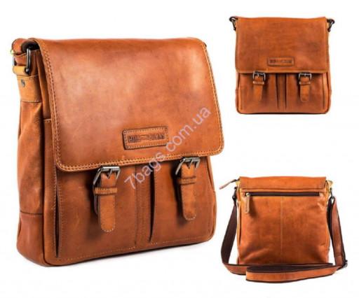cdc171793047 Кожаные мужские сумки коричневого цвета - бренд Hill&Burry ...