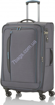 Travelite TL089549-04 CROSSLITE/Anthracite Чемодан на 4 колесах L расш. (102/115л,3,6кг) (47x77x30/34см)
