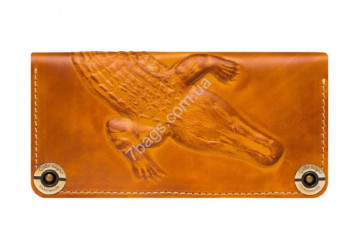 Кошелек handmade унисекс Gato Negro GN219 в цвете Alligator Orange