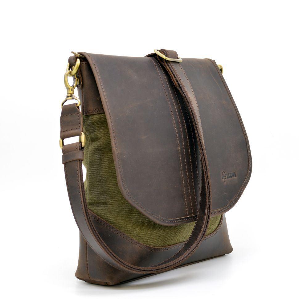 7a5e7b2974e5 Мужская сумка через плечо кожа + парусина RH-18072-4lx бренда TARWA. Код  товара: 521-962