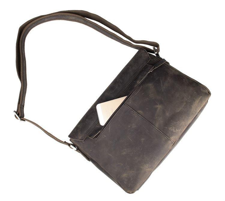 b19b226e7ae0 Мужская кожаная сумка мессенджер из натуральной кожи JD6002R John McDee.  Код товара: 523-660