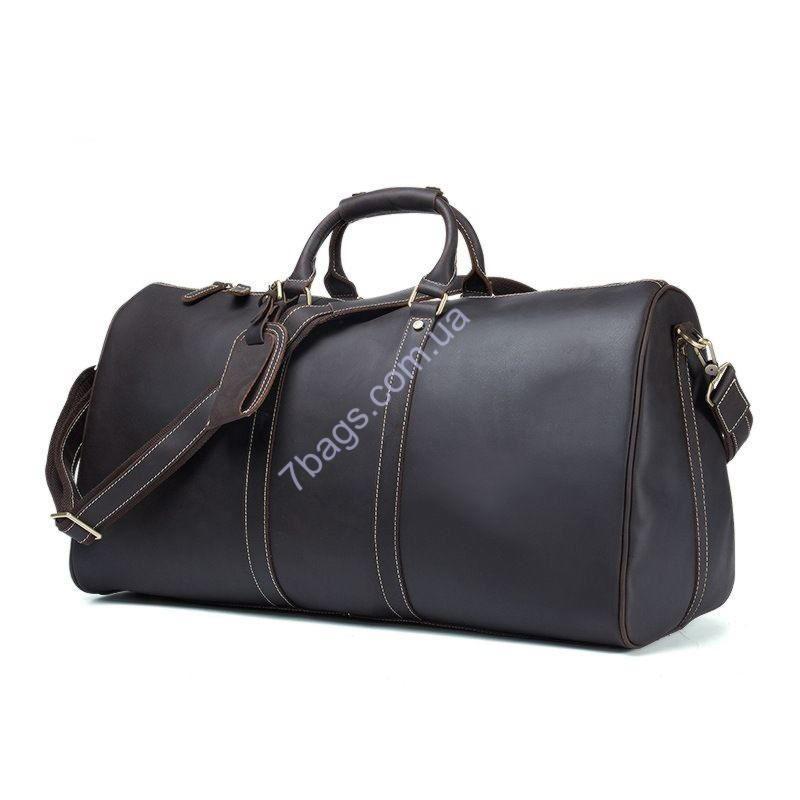 73c2f1086b47 Большая дорожная сумка tid9551 из кожи Крейзи Хорс, черного цвета ...