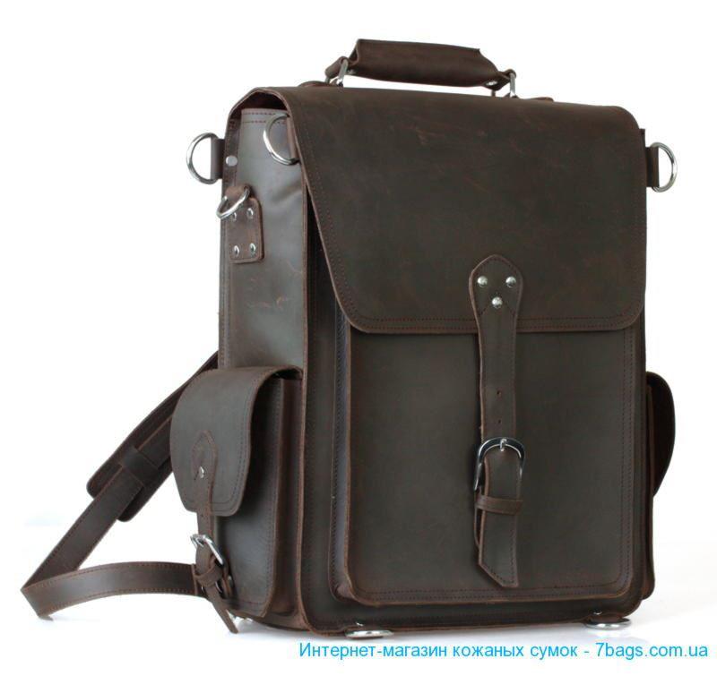 Мужская сумка, рюкзак, мессенджер из винтажной кожи. . Материал: 100% натуральная говяжья кожа. . Размер: 30(L)*15