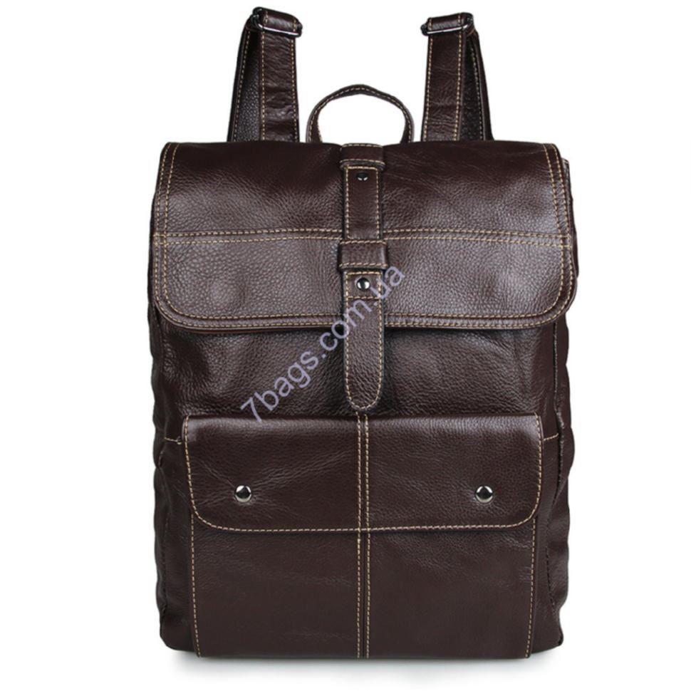 3cd24f93165b Мужской рюкзак из натуральной телячьей кожи John McDee 7335C ...