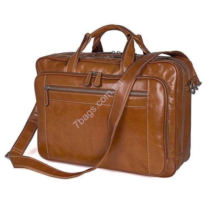 04810c0edb58 Большая кожаная сумка для мужчин John McDee 7380B ✓7380B по цене 3 ...