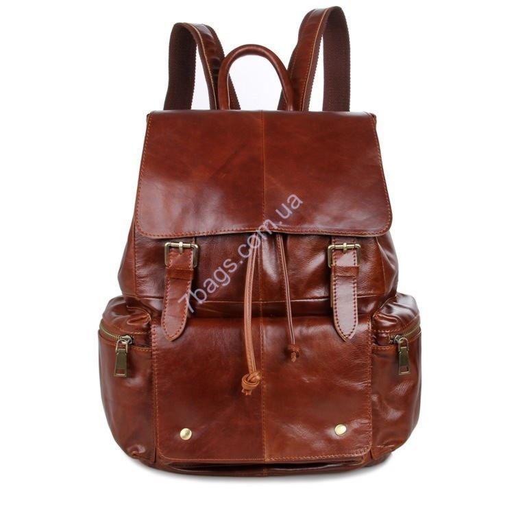 Унисекс винтажная сумка рюкзак из кожи