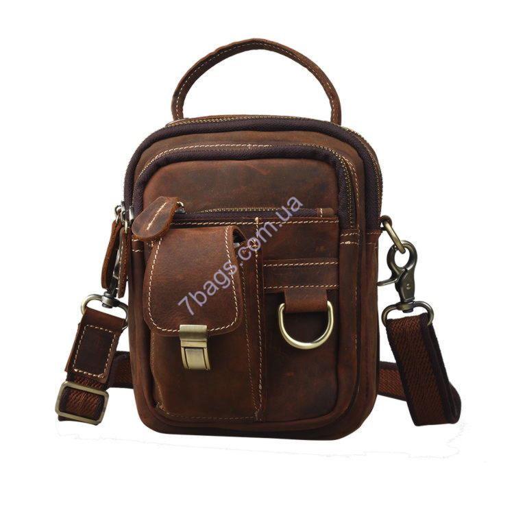 8dde0c75bb39 Мужская кожаная сумка на плечо, пояс, на руку ✓tid3004_d_br по цене ...