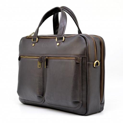 b1a1b1ab913c Мужская кожаная сумка для ноутбука и документов TARWA TC-4664-4lx