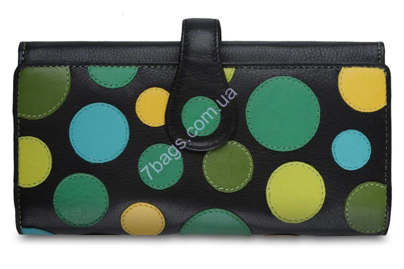 5141fc86cb91 Яркий женский кожаный кошелек в горошек Висконти ✓P2 по цене 2 020 ...