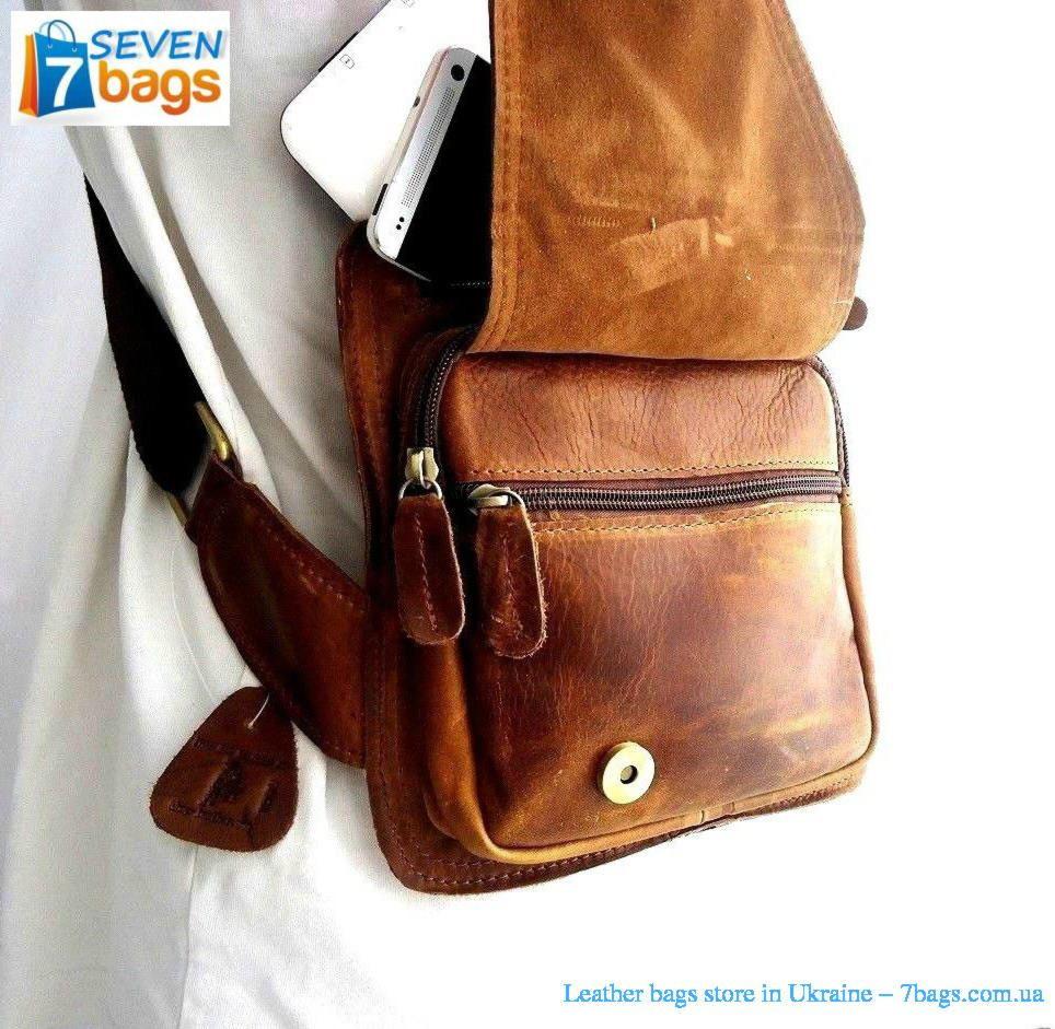 Купить кожаную сумку через плечо цены в интернет