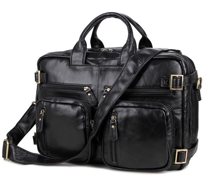 2c9cbb732ee6 Универсальная мужская сумка-рюкзак, чёрная 7026А