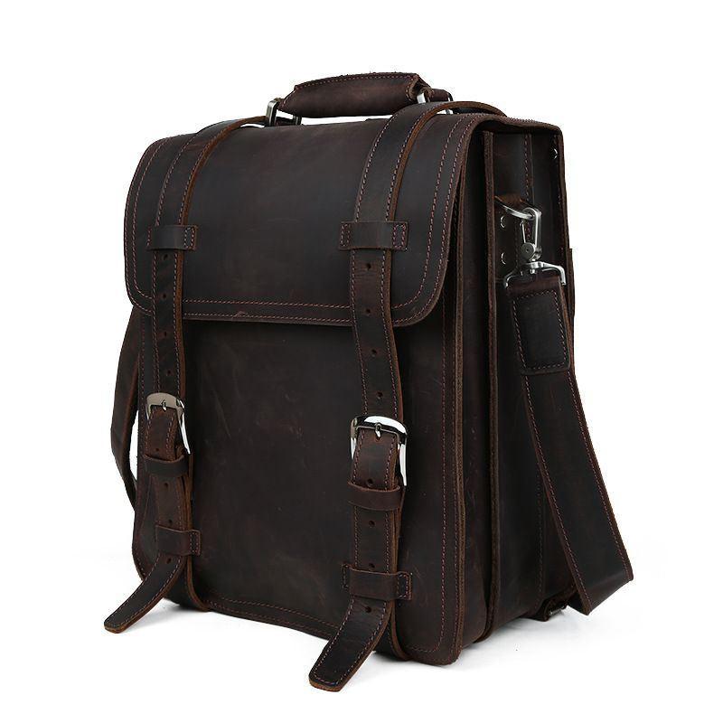 78eeb1ec0d1b Мужская сумка-ранец в ретро стиле из лошадиной кожи Tiding 1111 ...