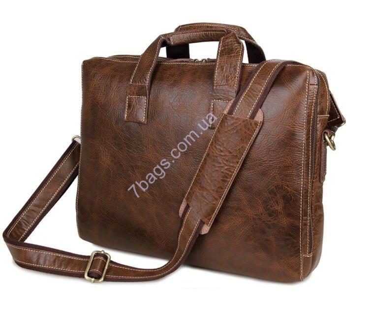 0d114aec7b37 Кожаный деловой портфель, сумка для ноутбука 7167C ✓JD7167C по цене ...