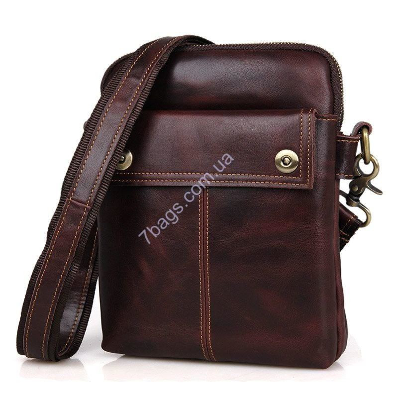 122290e880c4 Мужская кожаная сумка кросс-боди через плечо, бренд John McDee ...