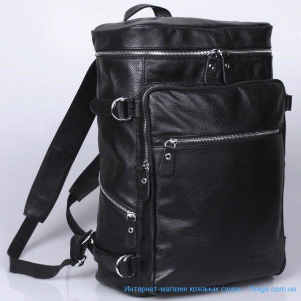 f6a638c1c917 Городской мужской кожаный рюкзак, черный Tiding 3035 ✓tid3035_bk по ...