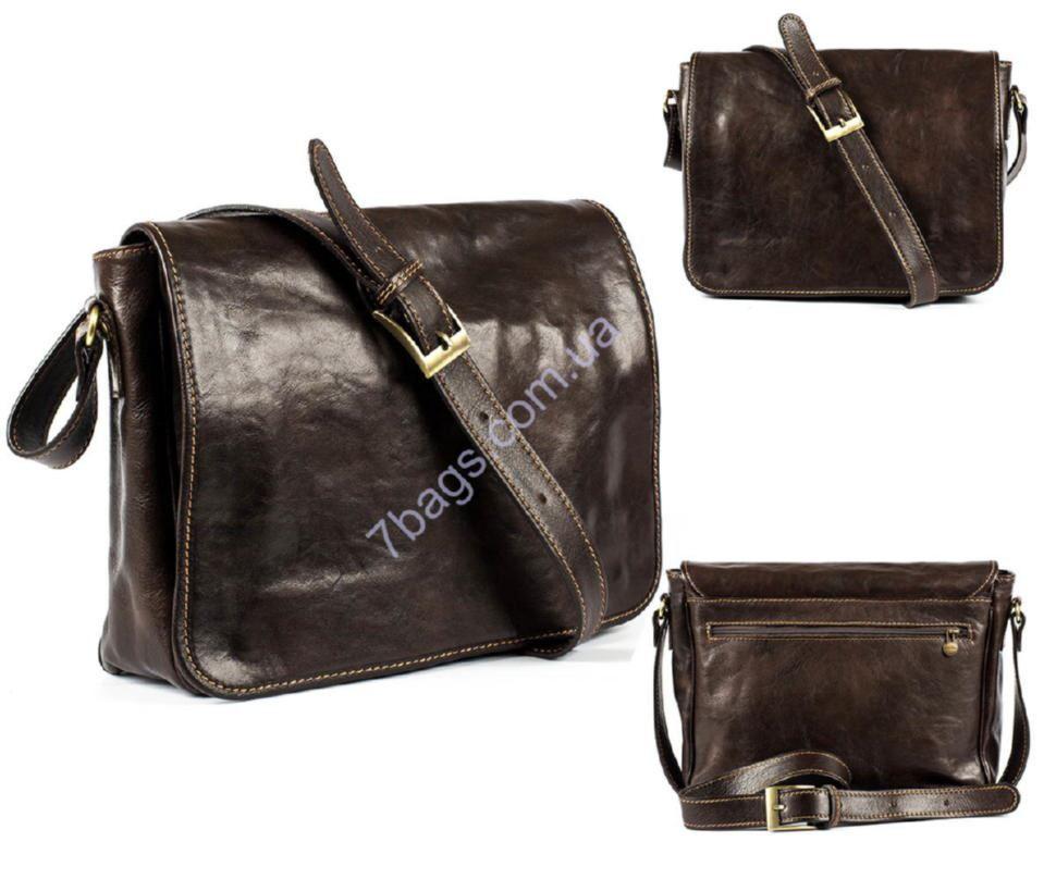 ced5d62e6fe3 Кожаная мужская сумка кросс-боди, цвет коричневый, Firenze ✓HB9110 ...