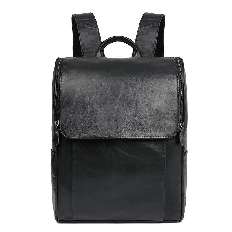 dc3488a0ecee Кожаный городской рюкзак для ноутбука John McDee 7344А черный ...