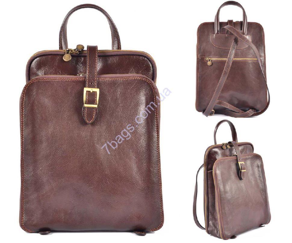 13eb9ca639b2 Кожаный рюкзак, цвет коричневый, Firenze HB0603 ✓HB0603 по цене 4 ...
