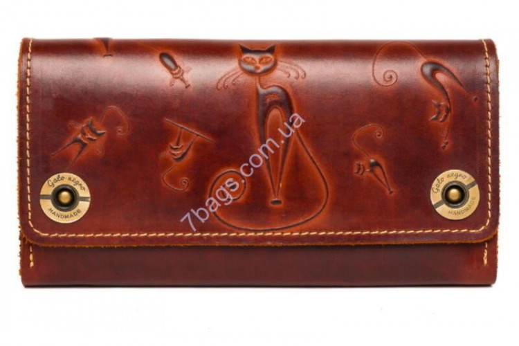 5fabfe0726ff Кошелек-клатч женский кожаный Gato Negro GN268 в цвете Alfa Big Catswill  Brown