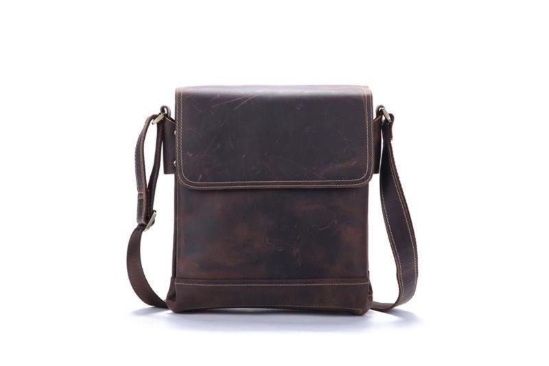 d14d91364a06 Оригинальная кожаная сумка через плечо, цвет коричневый, Bexhill bx030