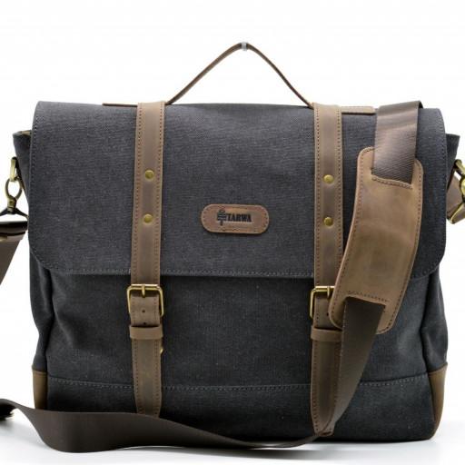 deabee9b66fd Мужская сумка-портфель из парусины с кожаными вставками RG-0001-4lx бренда  TARWA