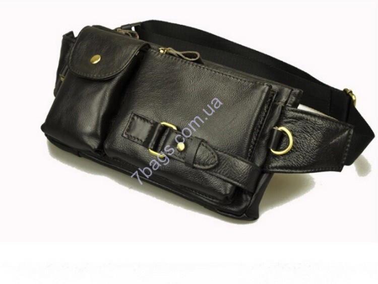 69c5ab4b3ab0 Кожаная сумка мужская или женская на пояс и талию из натуральной кожи
