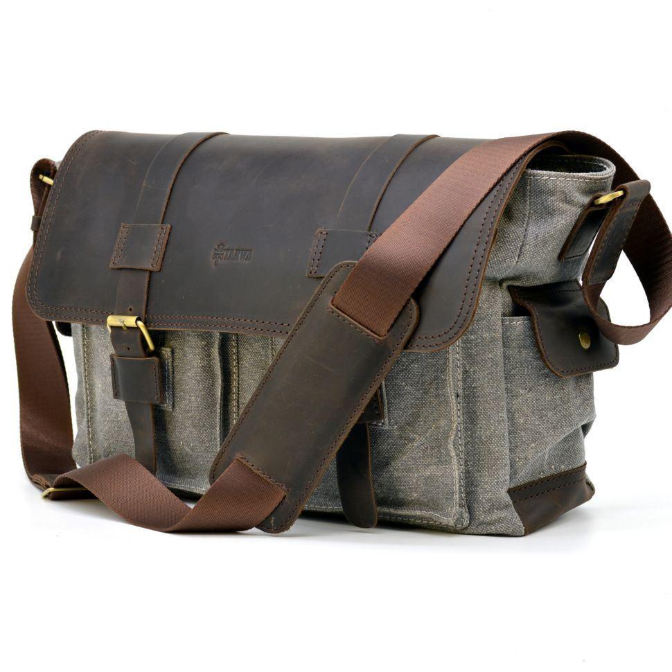 ab4c987d6f88 Мужская сумка микс ткани канваз и кожи RG-6690-4lx TARWA ✓RG-6690 ...