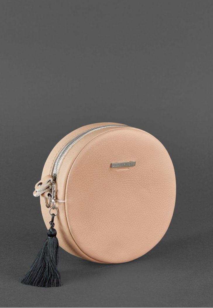 f65fdb756d0c Круглая сумочка Tablet BN-BAG-23-crem-brule BlankNote крем-брюле ...