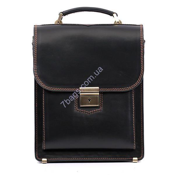 4357fd83acb0 Черный кожаный портфель-планшет Manufatto для деловых мужчин ...