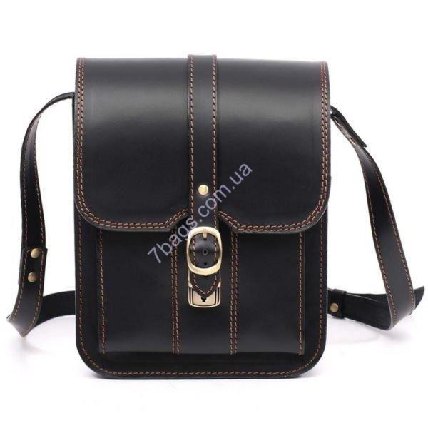 5ec1a75b4875 Черная сумка планшет Manufatto из натуральной кожи SBP-3 ✓Msbp_3 по ...