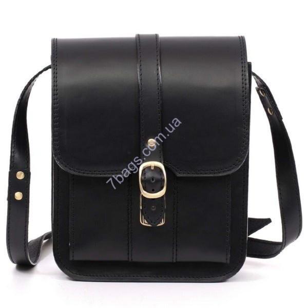 1b5040441f07 Черная сумка планшет Manufatto из натуральной кожи SBP-3 ✓Msbp_3 по ...