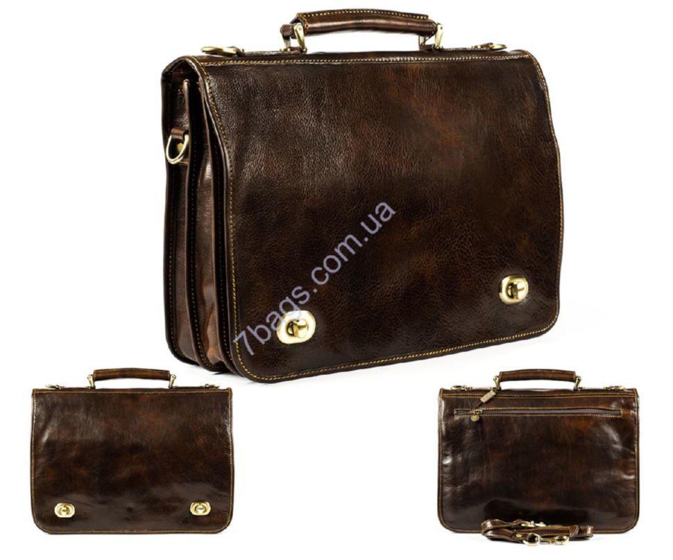 6ecc7e24836f Кожаный мужской портфель, коричневый цвет, Firenze ✓HB4512 по цене ...